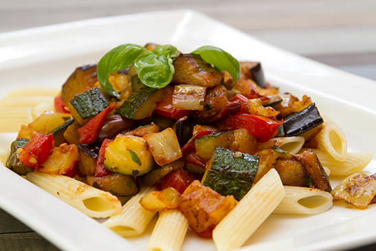 Penne with Mixed Grilled Vegetables - Chefbag