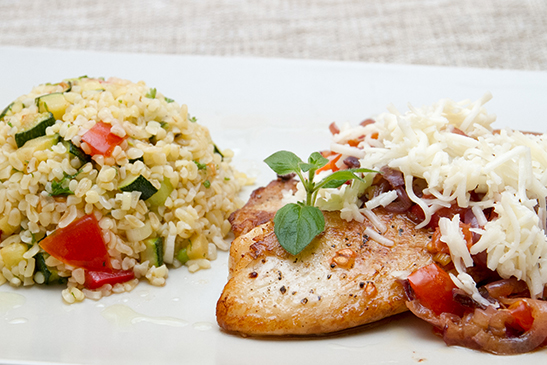 Goat Cheese Tilapia with Tabouleh - Chefbag