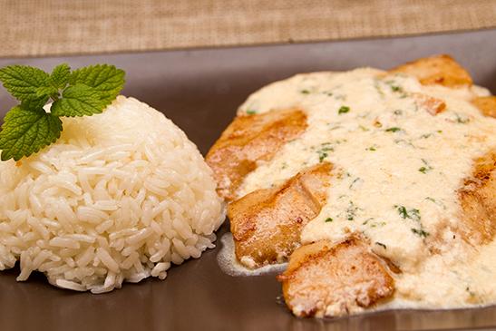 Tejszínes-kecskesajtos fogasfilé jázmin rizzsel - Chefbag