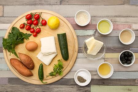 Zöldfűszeres sajtrétes édesburgonyapürével - Chefbag