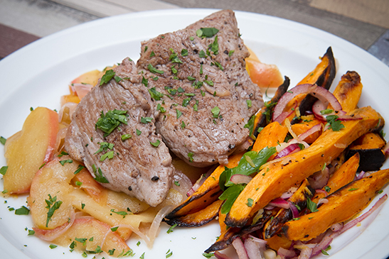 Pork tenderloin with sweet potato salad - Chefbag