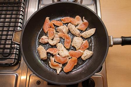 Chefbag -Csirkemell medvehagyma pestos bulgurral