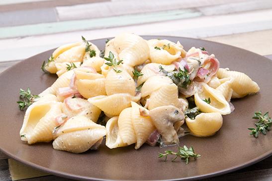 Gombás-medvehagymás kagylótészta - Chefbag vacsoracsomag