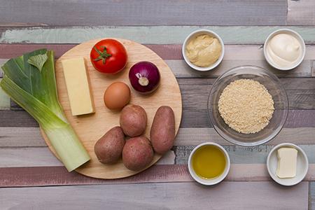 Chefbag-Sajtos, póréhagymás pogácsák