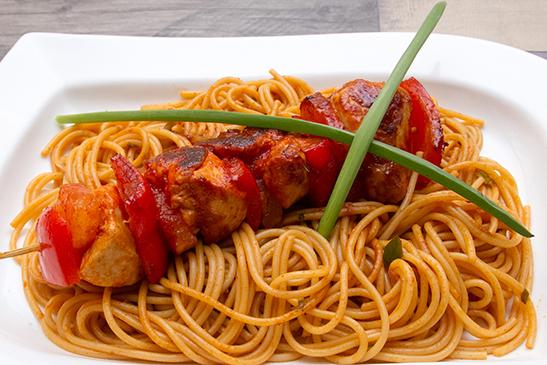 Chefbag -Édes - csípős csirkenyárs spagettivel