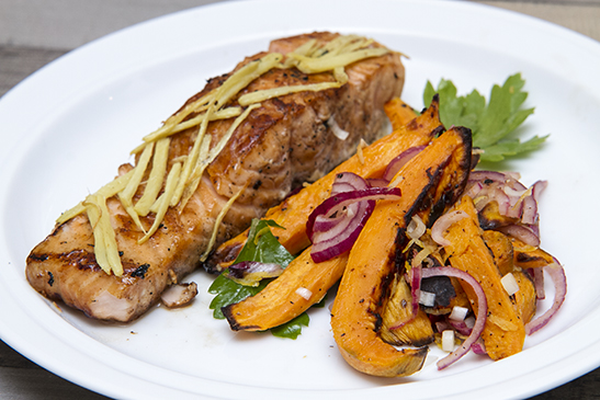 Smoked Ginger Salmon with Sweet Potatoes Salad -Chefbag