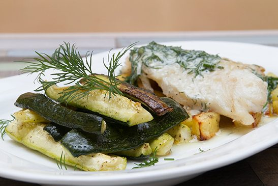 Chefbag - Dill tilapia baking dish with zucchini