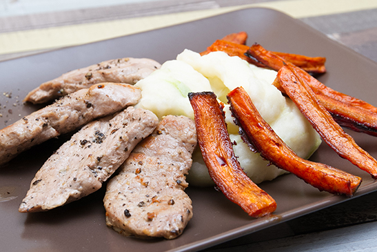 Pork medallions with leek mashed potatoes - Chefbag