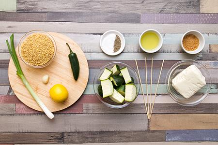 Vegetáriánus kebab citromos bulgurral - Chefbag