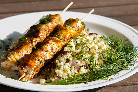 Baharat chicken skewers - Chefbag