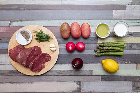 Borjúszűz grillzöldségekkel, tárkonyos mártással - Chefbag