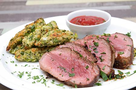 Citromos-fokhagymás borjubélszín brokkoli krokettel - Chefbag