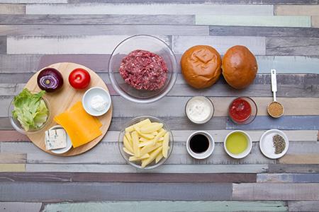 Három sajtos marhaburger - Chefbag