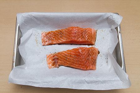 Kapribogyós lazac tormaszósszal - Chefbag