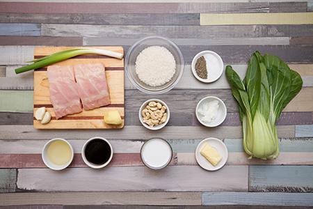 Mézes szürkeharcsa párolt bok choy-jal és kókusz rizzsel- Chefbag