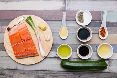 Teriyaki lazac cukkinitésztával - Chefbag