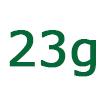 23 gramm szénhidrát