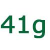 41 gramm szénhidrát