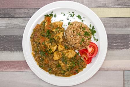 Padlizsános indiai csirke zabkörettel - Chefbag vacsoracsomagok