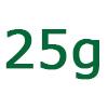 25 gramm szénhidrát