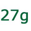 27 gramm szénhidrát
