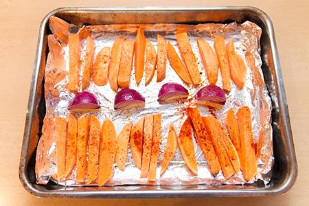 Chefbag - Harissa húsgolyók édesburgonyával