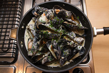 Rokfortos kagyló - Chefbag