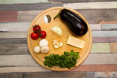 Fehér cheddar sajtos töltött padlizsán - Chefbag
